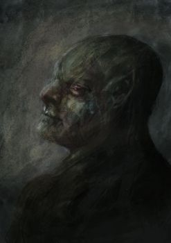 Orc Face With Texture Background by LiamGray