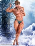 Muscle and Beauty Young Muscle _ I am Muscle by rainbowscriber