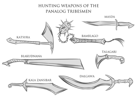 Random Sketches Chap. 169: Panalog Weapons by Lightning-in-my-Hand