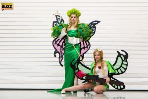 Queen Elfaria and Mercedes - Odin Sphere by Paper-Cube