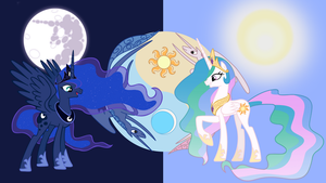 Moon and sun Princesses by neodarkwing