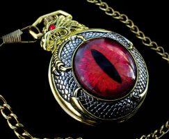 Dragon Slave - Dragon Eye Fire UV Pocket Watch by LadyPirotessa