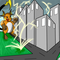Mega Raichu used Thunder by Mew-tew