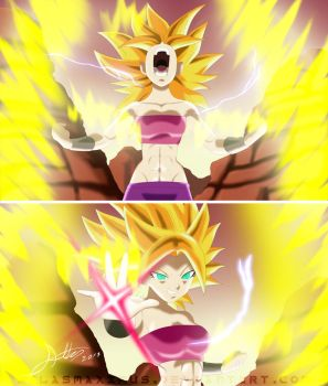 Caulifla, la Super Saiyajin by AtlasMaximus