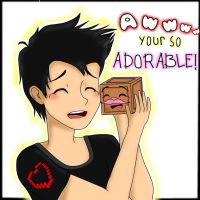 Markiplier and Tiny Box Tim! by Namine2420