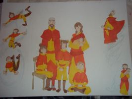 Day 6: Tenzin And Pema's Family Portrait. by PhoenixTailFeather