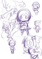 Chib Rwby doodles by StillJade