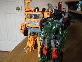 Autobots Hoist and Grapple by forever-at-peace
