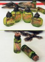 More Absinthe Bottle Pendants by asunder