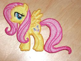 Fluttershy Embroidered Patch by EthePony