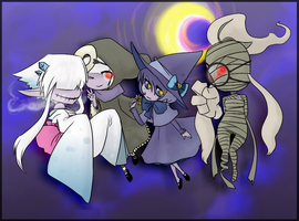 PKMN ghost gals by Nire-chan