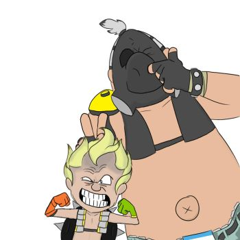 Junkrat and Hogges by ThePokemonLord