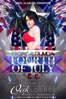 Tropical Rumba Fourth Of July Edition Flyer by O-DMG
