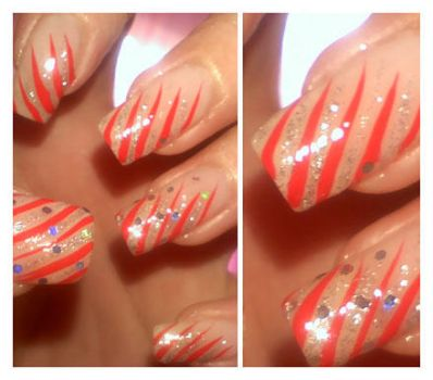 Red manicure by Ianna89