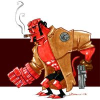 Smoking Hellboy by WarBrown