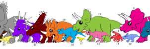 Ceratopsians Parade By Crimsonfox by DinoLover09