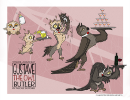 Character Timeline: Gustave the Owl Butler by Absur-D