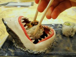 Shark Sushi Plate by aviceramics
