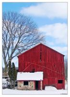 Winter Barns 3 by Limaria