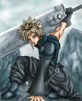 Advent Children Cloud Strife by godaiking
