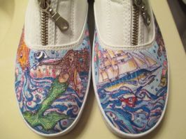 decorated mermaid shoes by waverly888