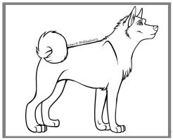 Free Akita Lines by wolfshadow10