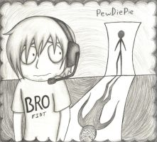 PewDiePie Mouse Pad (no color) by Paranoia-chan