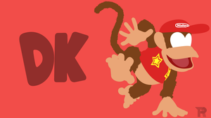 Diddy Kong Minimalist by turpinator77