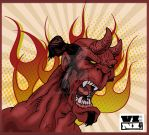 Angry Hellboy by ViniVix