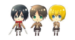 Shingeki no Kyojin [Attack on Titan] by pikaira