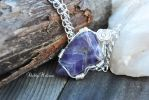 Silver Tumbled Amethyst Necklace by ShelbyMelissa