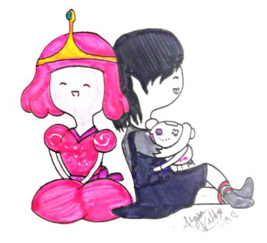 Little Princess Bubblegum and Marceline by Azn-Expo-Marker