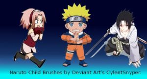 Naruto Child Brushes by CylentSnyper