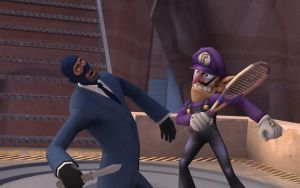 Waluigi VS the Spy by Luigimariogmod