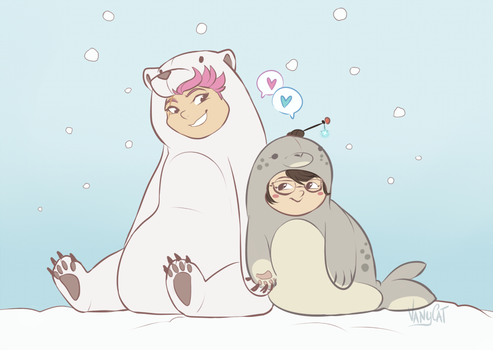Seal and Polar Bear by VanyCat