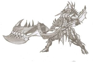Rathalos Armour and Blade by ChocolateBiscuits