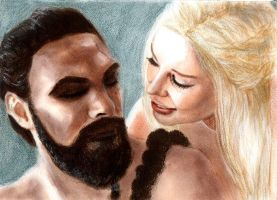 GoT: Drogo + Daenerys by freshberries