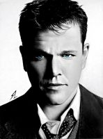Matt Damon by Electricgod