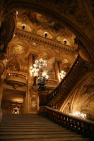 Paris Opera House Staircase by vmulligan