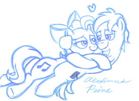 Inky and Twinky cuddling by AleximusPrime
