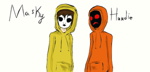 Masky and Hoodie by DuskofDay