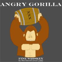 Angry Gorilla Fine Whiskey by Skyg777