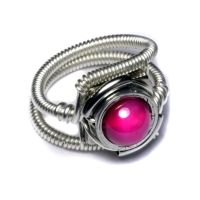 Cyberpunk Pink Ring by CatherinetteRings