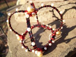 Black, red and white mini crown by Evea