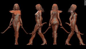 Yana Red - Mudbox screens by Molte1234