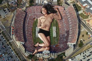 Amerie in stadium by lowerrider