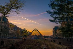 Le Louvre in the forest by binarymind