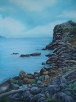 Soft Pastel Landscape by blackblacksea