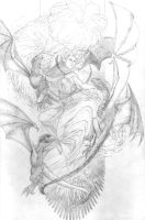 Daenerys Targaryen Pencils for Josh Owens by jeffreyedwards