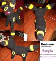 Umbreon amigurumi 2 by Sasophie